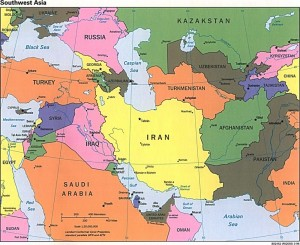 Iran-carte-de-l-Iran-Azerbajia-Arménie-Turquie-Arabie-Saoudite-Iraq-Oman-emirats-Arabes-Unis-Pakistan-Turkmenistan-Iran-Asie-du-sud-Ouest